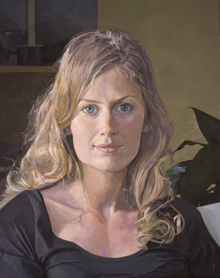 'Adrianna', Mark Fielding, Acrylic on canvas, 50 x 40 x 3 cm