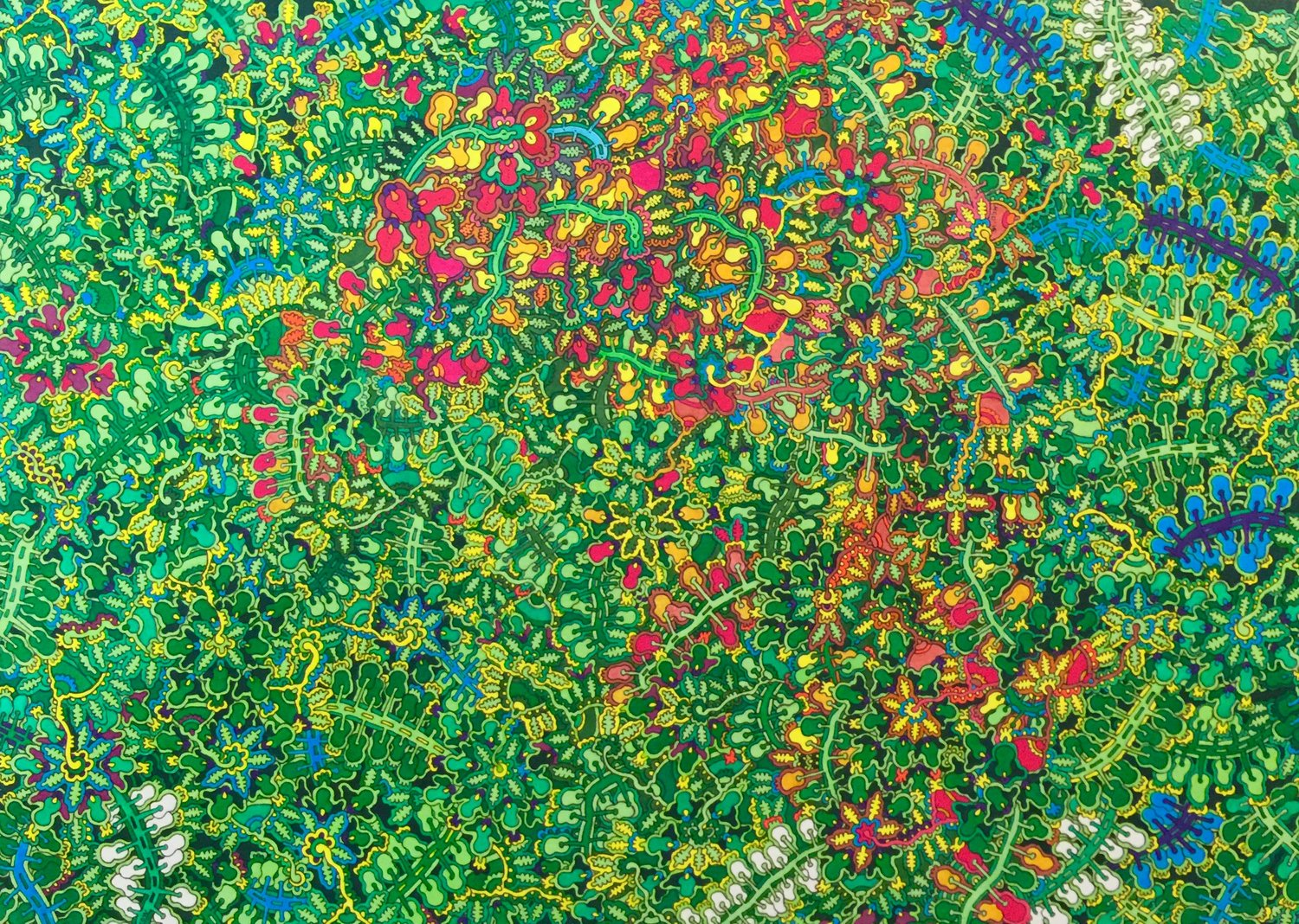 'Green', Max Goshko-Dankov, Oil and water based markers on paper, 30 x 40 cm