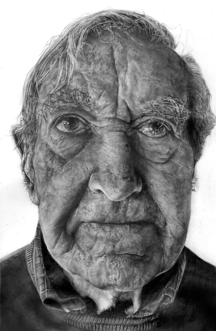 'My Grandfather', Meggie Watkins, Pencil, 29 x 17 x 2 cm