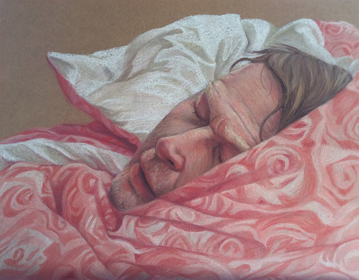 'After Nightshift', Merlyn Harvey, Rembrandt soft pastels on board, 40 x 50 cm
