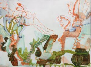 'Exuberance of small things', Nadja Gabriela Plein, Oil on dibond, 60 x 80 cm