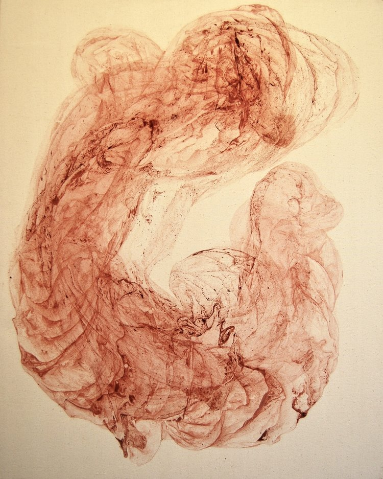 'Untitled', Odilia Suanzes, Oxide pigment in canvas, 100 x 80 x 4 cm