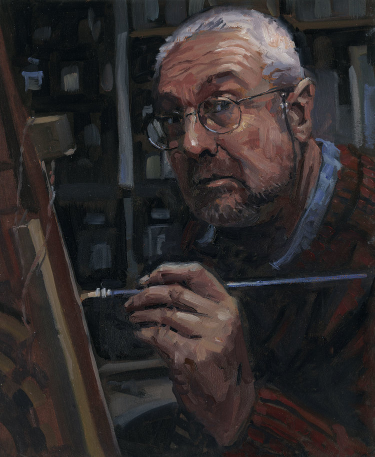 'The Painter', Rob Adams, Oils, 30 x 36 x 0.3 cm