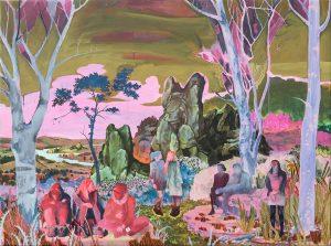 'Fortress rebuild series', Rene Gonzalez, Acrylic on canvas, 80 x 100 x 2 cm