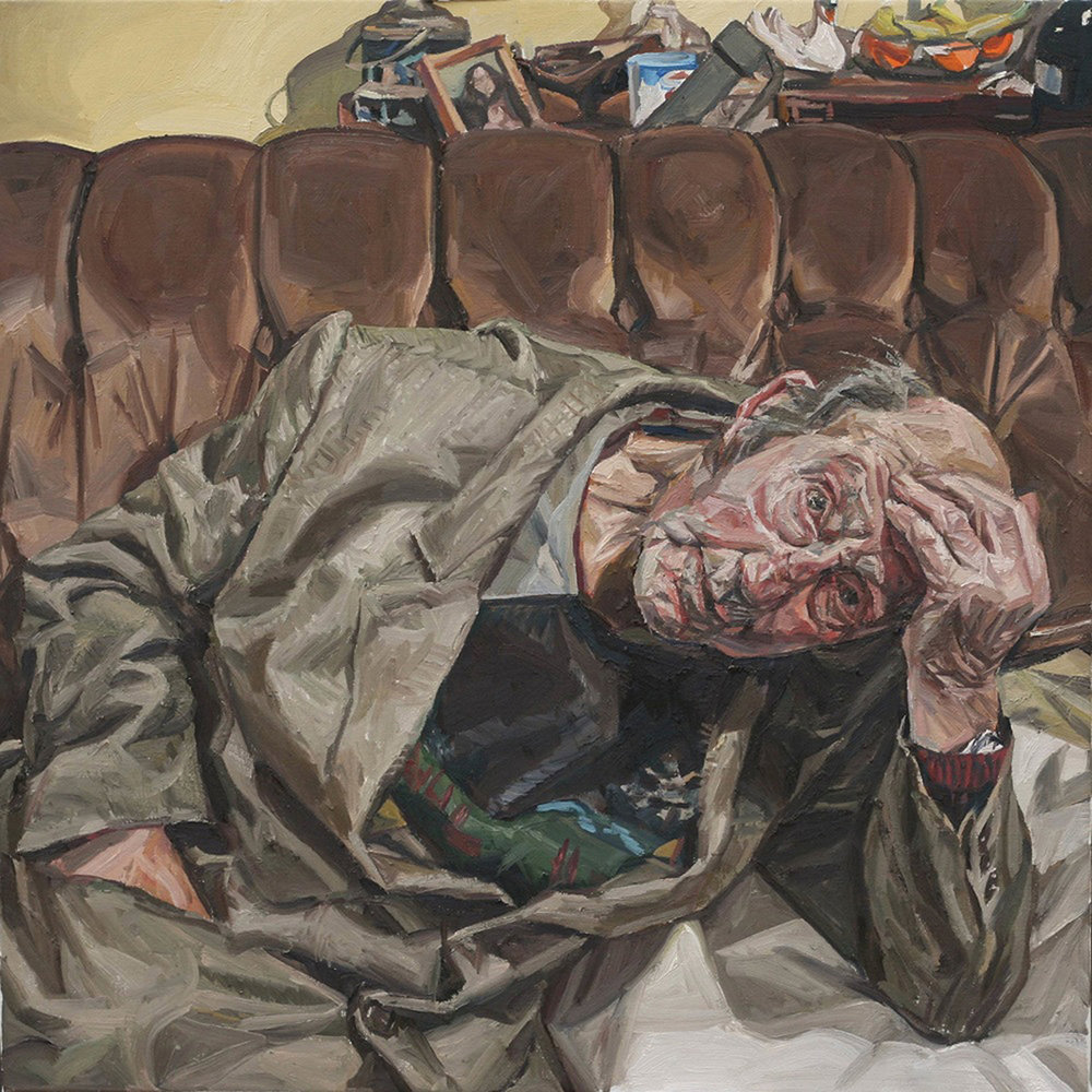 'DCTH', Richard Allen, Oil on linen, 65 x 65 x 5 cm