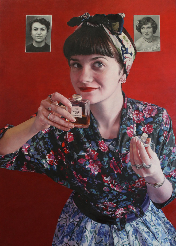 'Memory's Scent', Sarah Hope, Oil on board, 70 x 50 x 3 cm