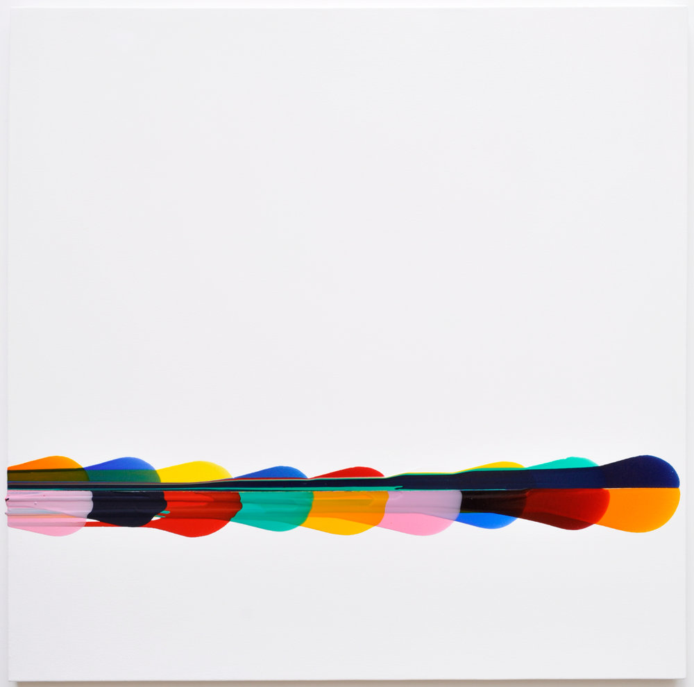 'Monte Carlo', Sarah Porter, Acrylic on canvas, 90 x 90 x 1 cm