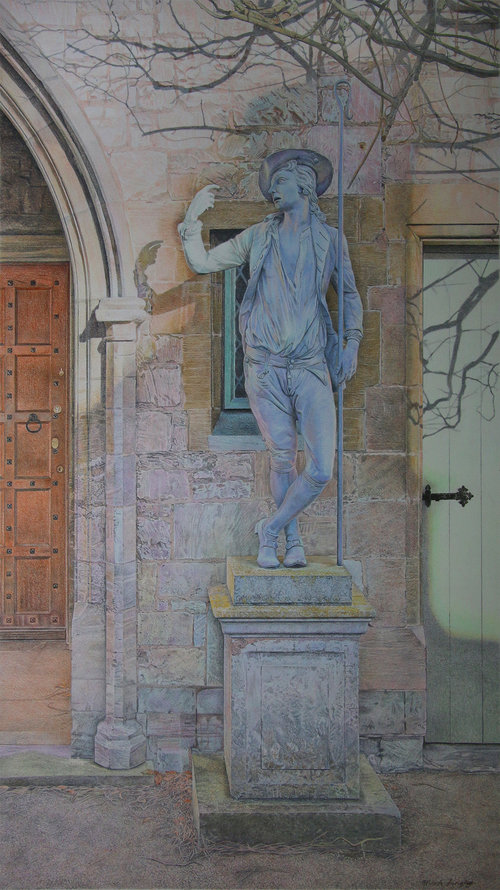 'Shepherd's Temptation', Mark Langley, Colour pencil, 30 x 54 cm
