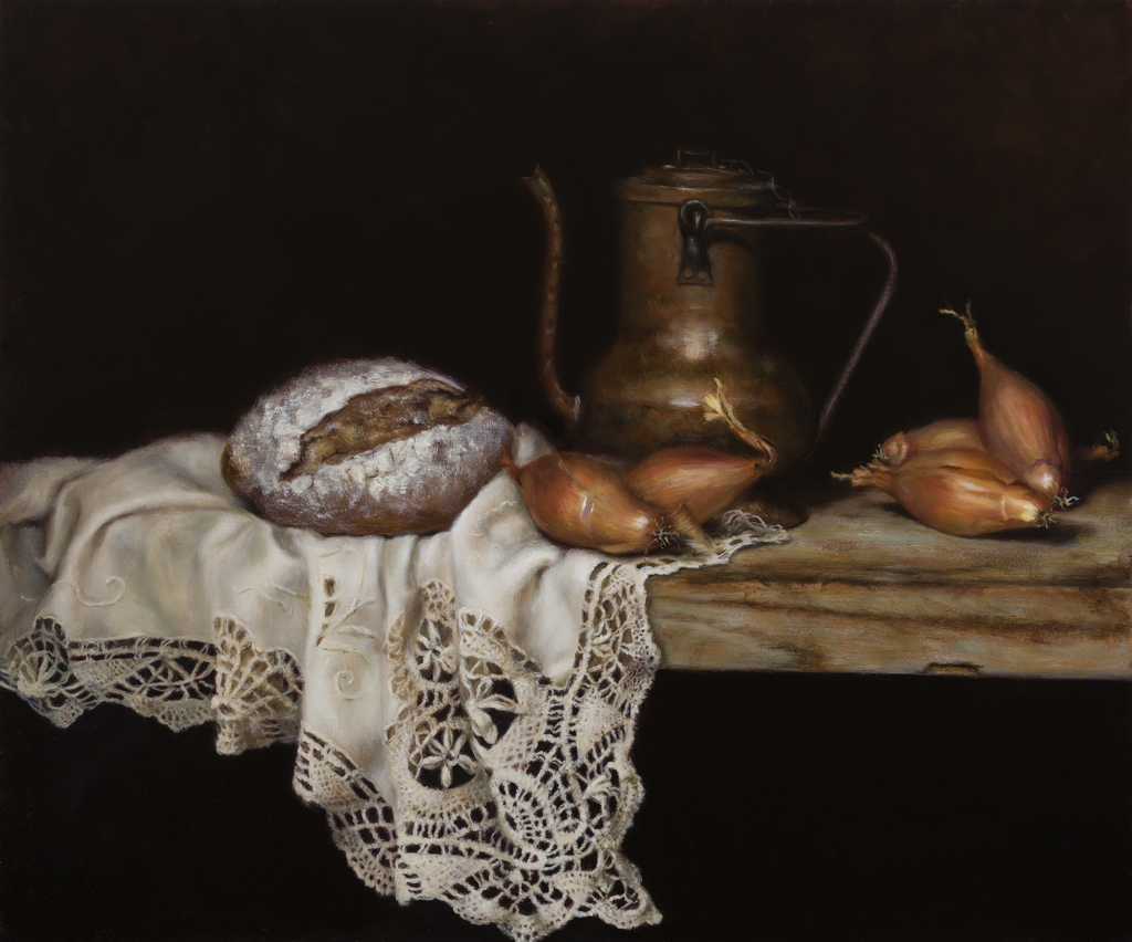 'Still Life', David Agenjo, Oil on canvas, 95 x 140 x 3 cm