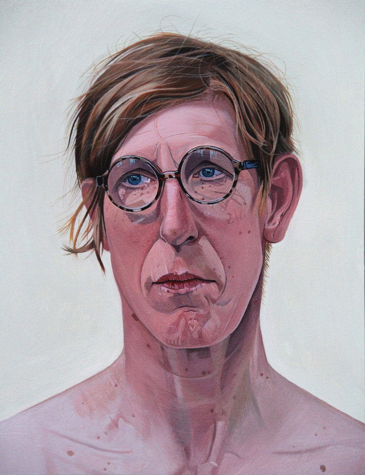 'Suki the life model', Tony Noble, Oil on panel, 30 x 24 x 2 cm