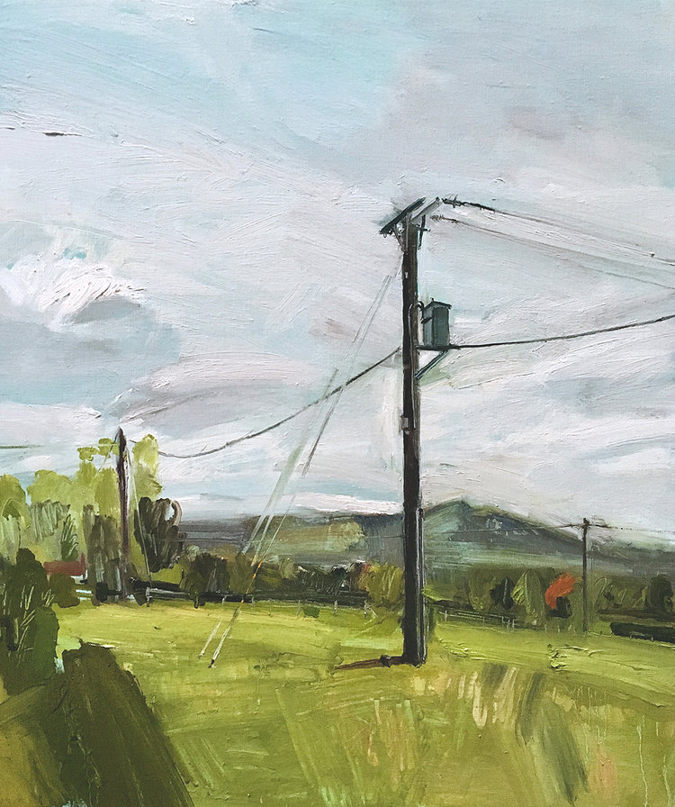 'Cantlop Road', TB Ward, Oil on linen, 68 x 80 x 4 cm
