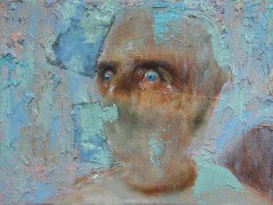 'ICU', Tom Robertson, Oil on linen, 30 x 40 cm