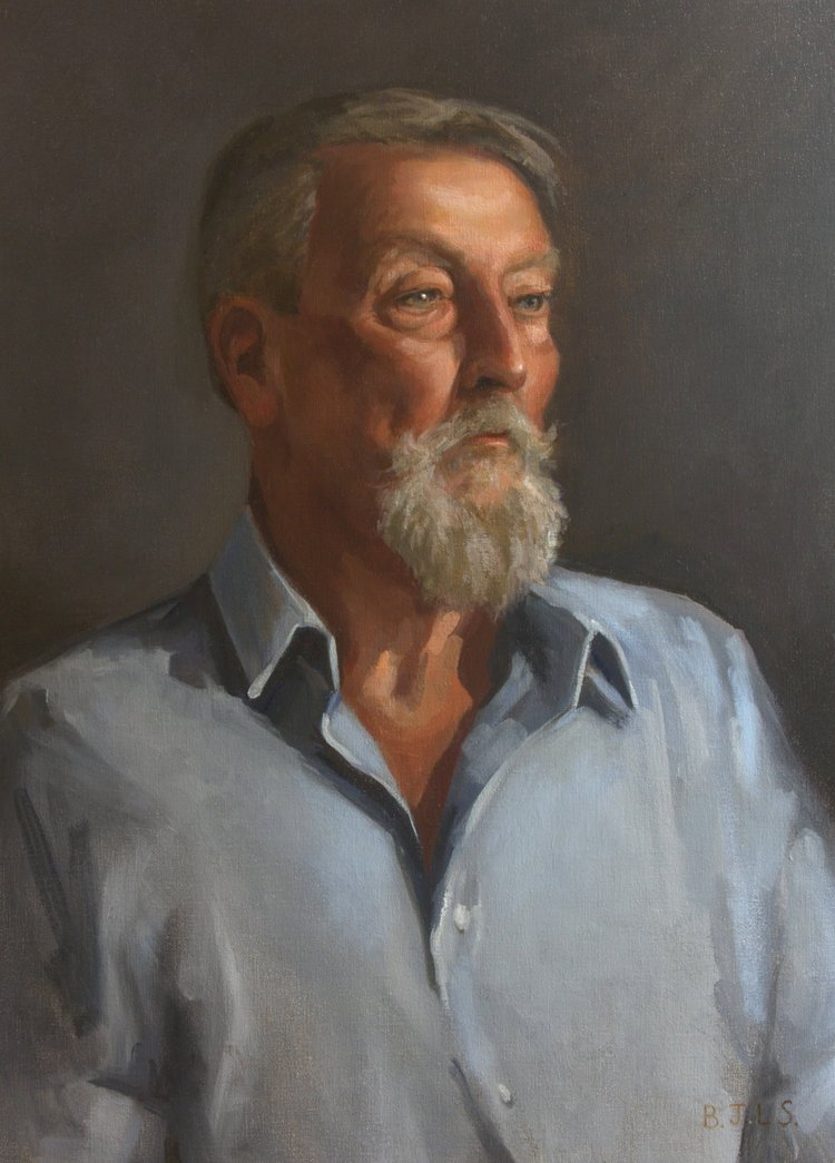 'Tony', Ben Laughton Smith, Oil, 88 x 63 x 4 cm