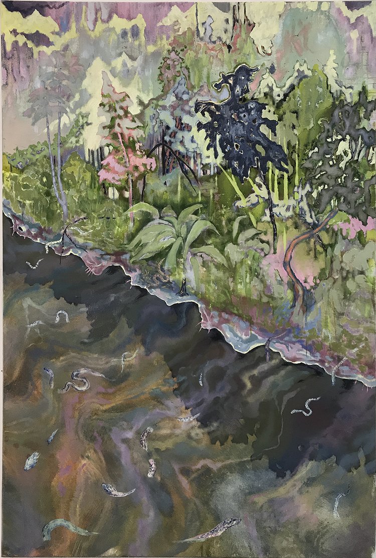 'Water Snake's', Tuesday Riddell, Oil on canvas, 150 x 100 x 5 cm
