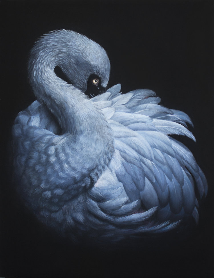 'In the dark', Vera Evseeva, Pastel, pastel pencils on paper, 30 x 40 cm