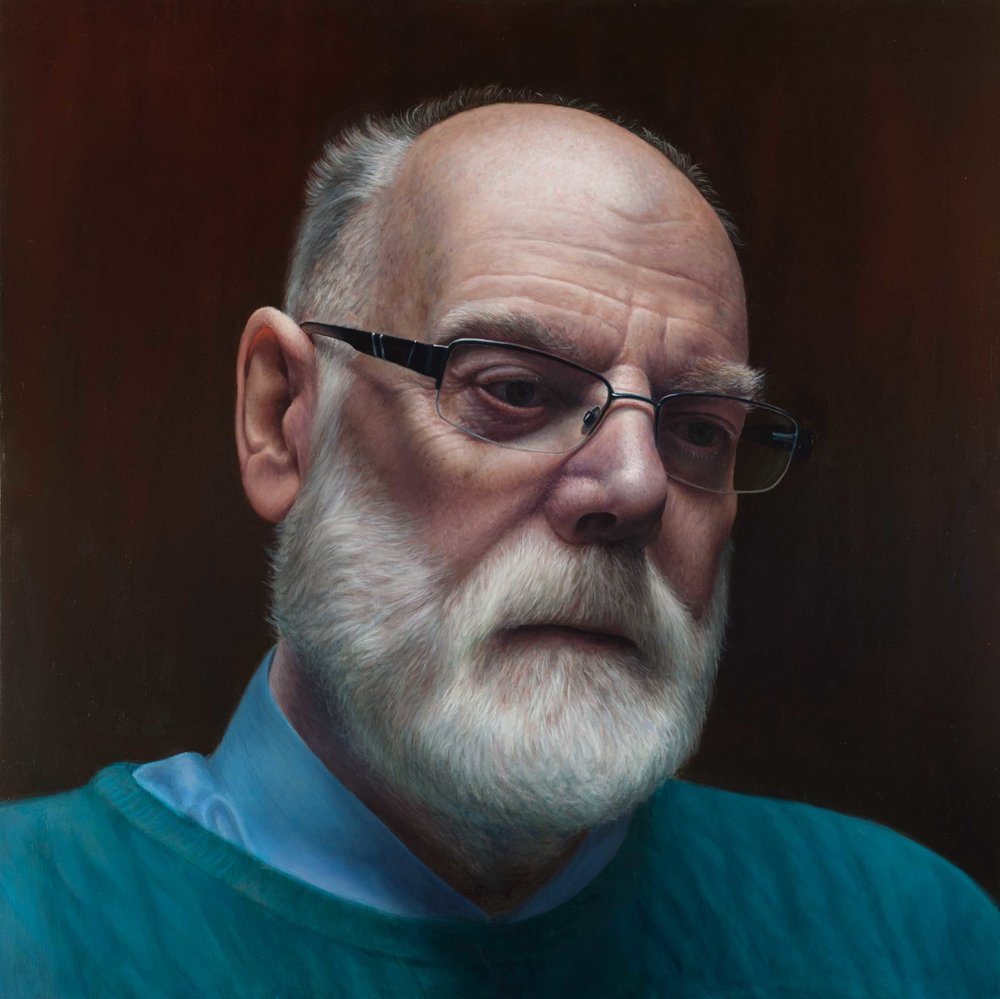 'John', Victor Harris, Oil on linen, 90 x 90 x 4 cm