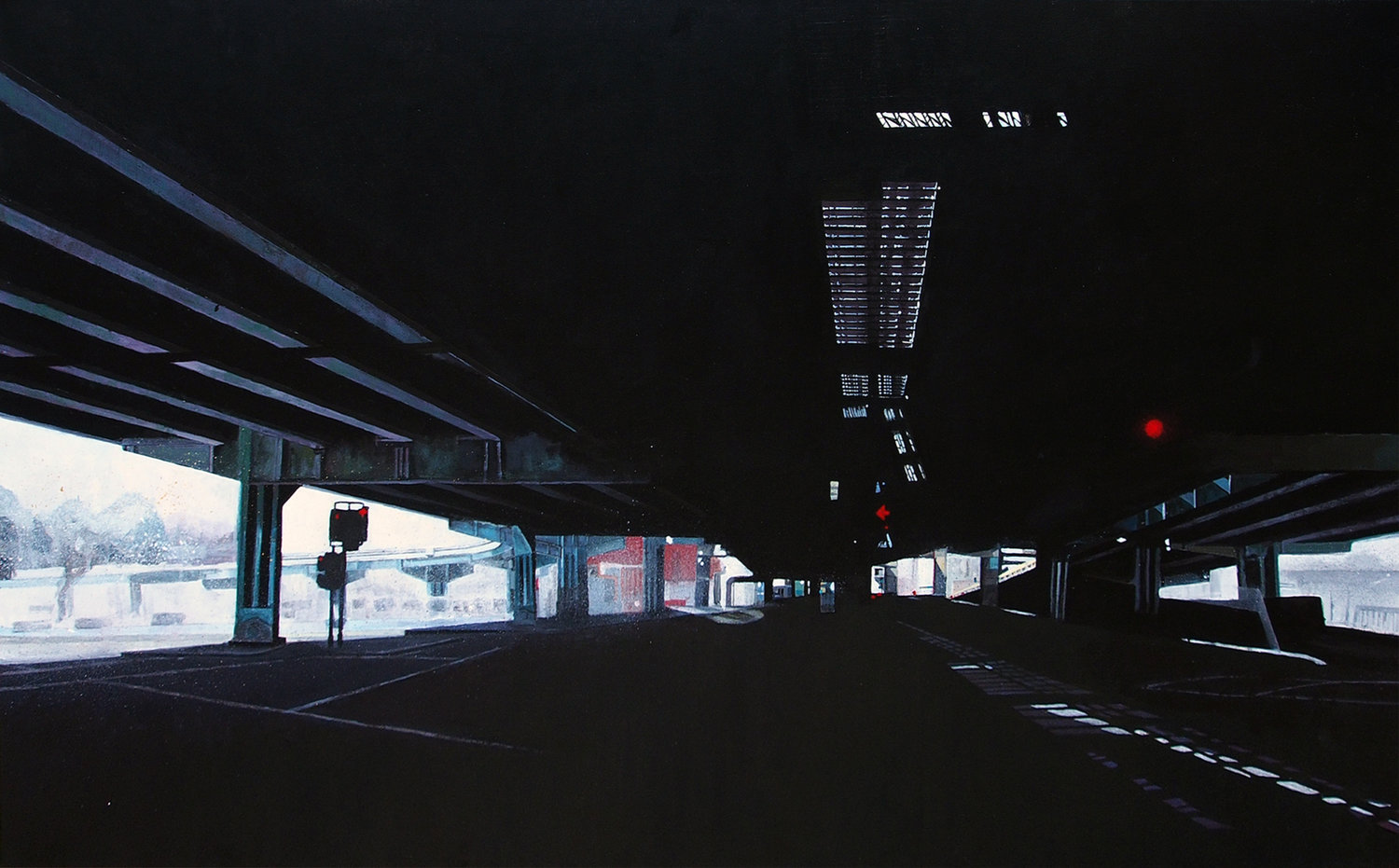 'Overpass', Victoria Dale, Acrylic on canvas, 76 x 122 x 2 cm