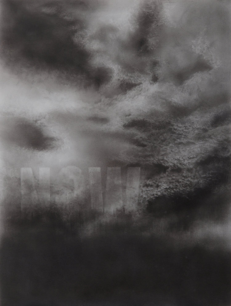 'NOW', Nicola Watson, Graphite on paper, 60 x 80 cm