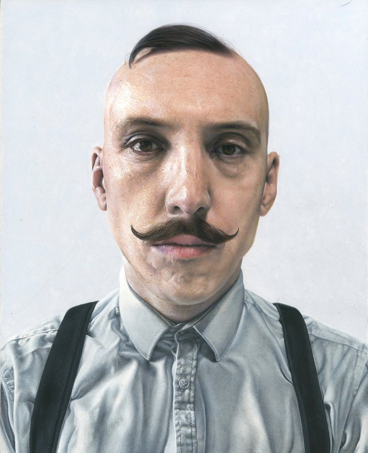 'Jamie', Steve Caldwell, acrylic on wood panel, 30 x 24 cm