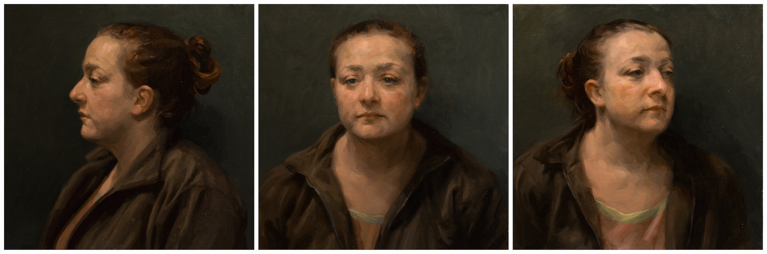 'Laury', Frances Bell, Oil on canvas, 138 x 46 x 2 cm