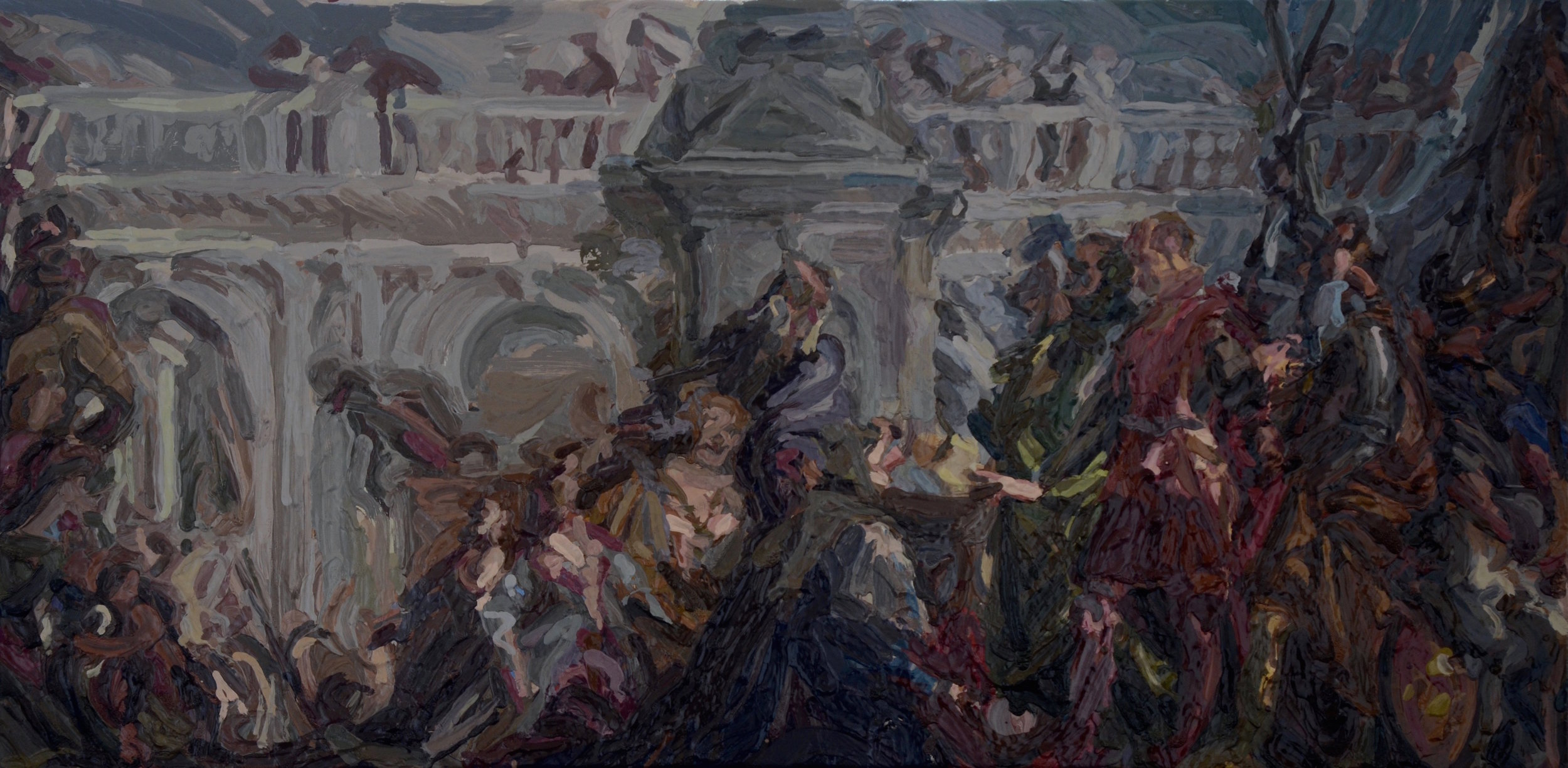 'After Veronese', Charlie Schaffer, Oil on canvas, 35 x 70 cm