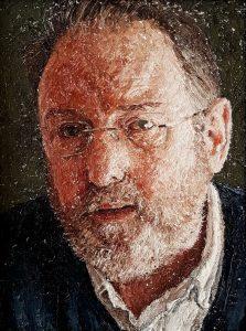'The Silversmith', Tom Ward, Oil on board, 30 x 22.5 cm