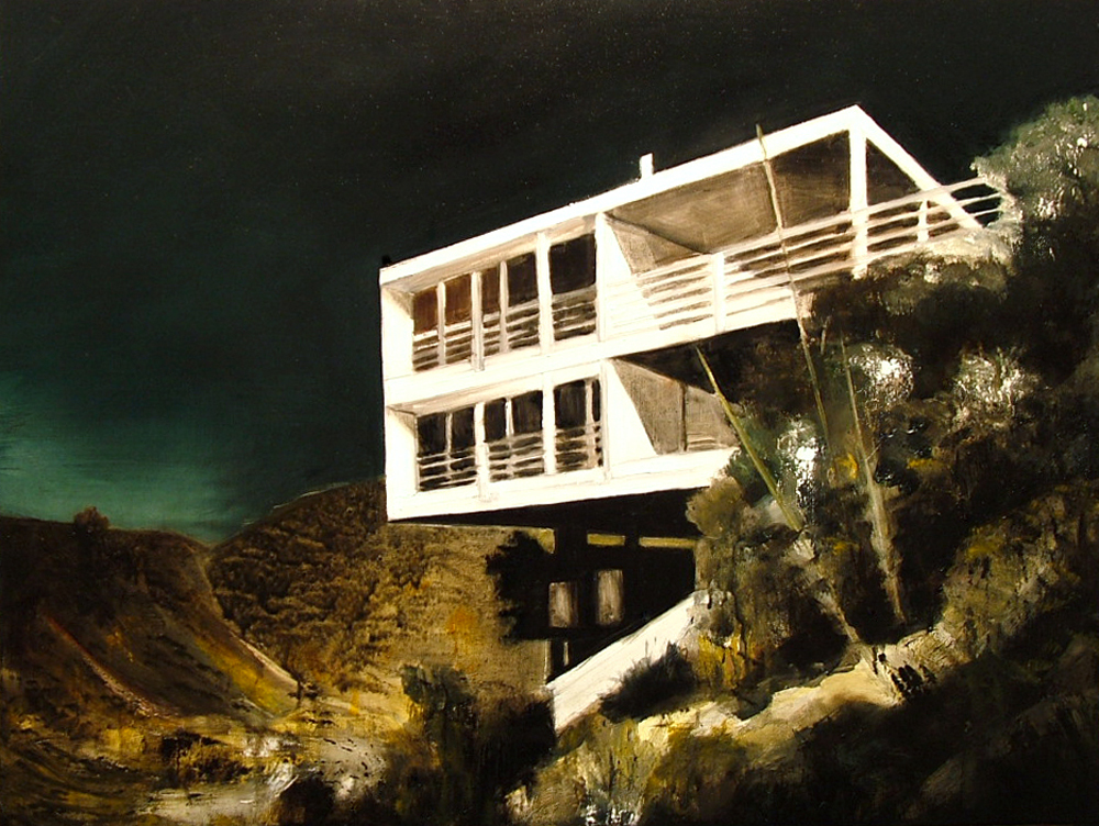 'House (2)', Jarik Jongman, Oil on canvas, 60 x 70 cm