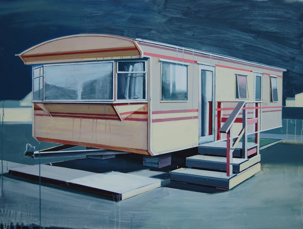 'Yellow Caravan', Paul Crook, Acrylic on canvas, 125 x 95 cm