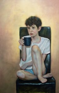'Hot Chocolate', Adrian Hill, Oil on canvas, 73 x 110 cm