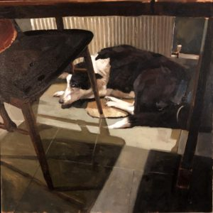 'Blue', Alison Friend, Oil on panel, 30 x 30 cm