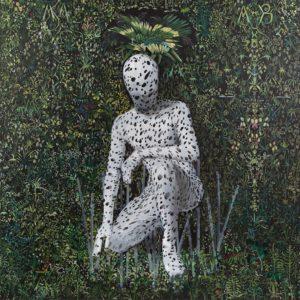 'Dalmatian Man', Ambrus Gero, Oil and acrylic on canvas, 193 x 193 cm