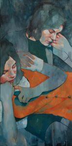 'Glasgow Girls', Amy Dury, Oil, 100 x 50 cm
