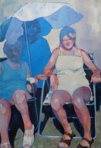'Sunbathers', Amy Dury, Oil, 90 x 60 cm