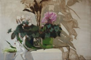 'Flowers of Albacete', Ana del Valle Ojeda, Oil on canvas, 54 x 81 cm