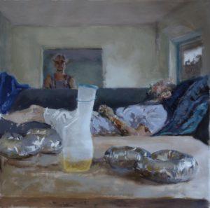 'The Jury', Ana del Valle Ojeda, Oil on canvas, 73 x 73 cm