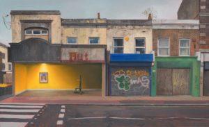 'The Broken Column', Andrew McIntosh, Oil on linen, 55 x 91 cm