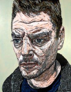 'James Nye', Andrew McKay, Acrylic, ink and graphite on panel., 36 x 28 cm