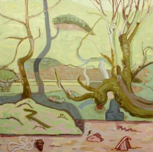 'Glade', Angelina Davis, Oil on canvas, 152 x 152 cm