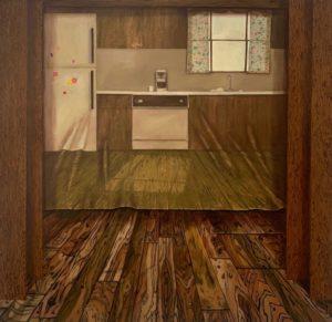 'Far Out', Anne Carney Raines, Oil on canvas, 96 x 90 cm