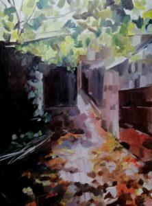 'Passage', Beth Barlow, Oil on paper, 30 x 40 cm