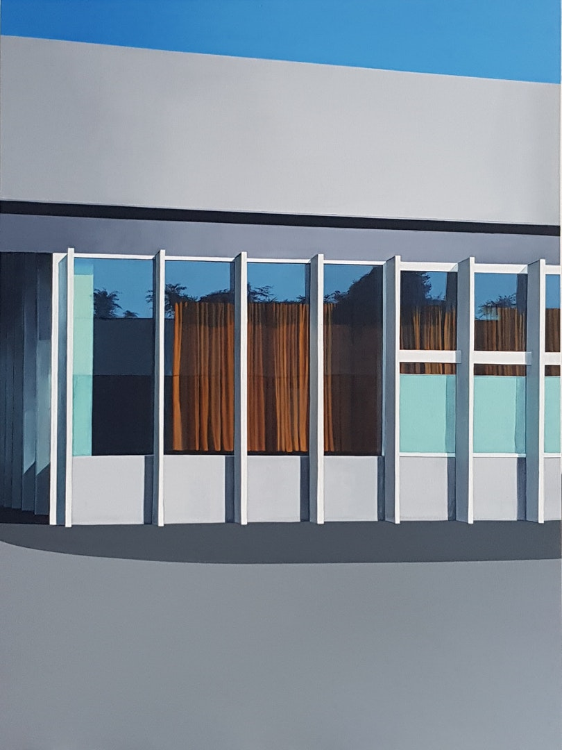 'Fondazione Prada', Bianca MacCall, Acrylic on board, 61 x 46 cm
