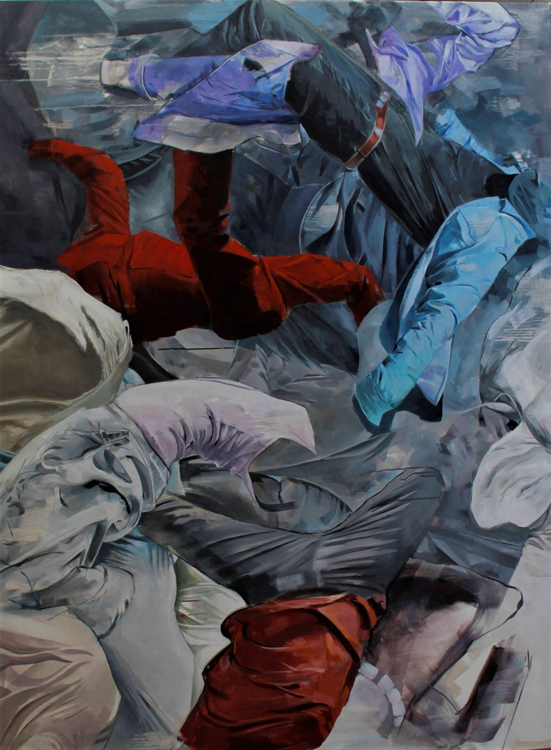 'Gravityless', Boris Garanger, Oil on canvas, 150 x 120 cm
