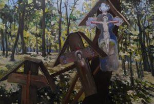 'Home For Souls', Brindusa Bontea, Oil on canvas, 90 x 130 cm