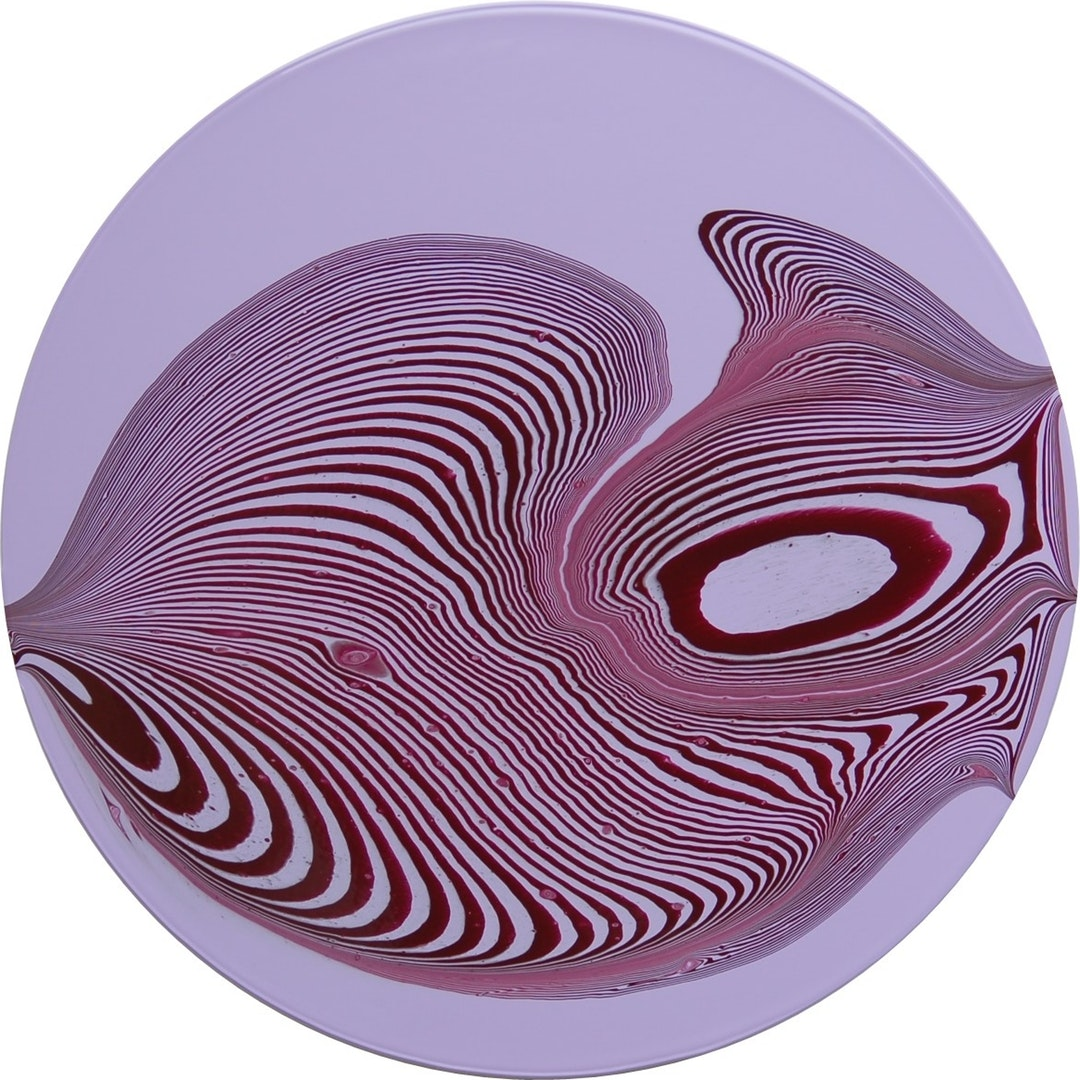 'Tipping Point (Permanent Light Violet / Burgundy) #2', Bryan Lavelle, Acrylic on MDF, 60 x 60 cm