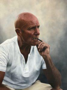 'Greg', Charlotte Gridley, Oil on board, 40 x 60 cm