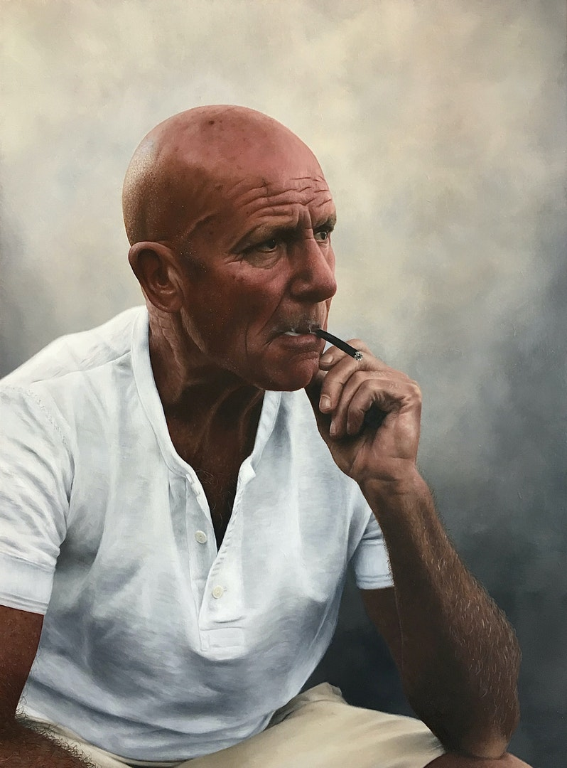 'Greg', Charlotte Gridley, Oil on board, 40 x 60 cm