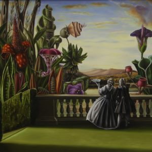 'Caprice#1', Chiara Bertolin, Oil on panel, 30 x 30 cm