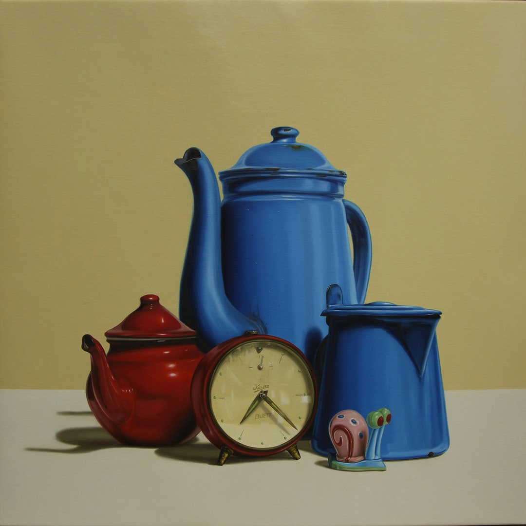 'The time and the snail', Chiara Bertolin, Oil on canvas, 50 x 50 cm