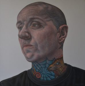 'Barry', Connor Maguire, Oil on canvas, 50 x 50 cm