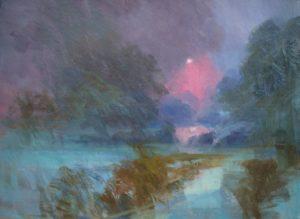 'Emerging sunlight', David Paul, Oil on canvas, 92 x 122 cm